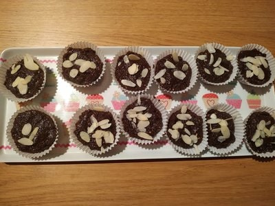 Peanut Butter Chocolate Cupcakes After refrigerating them for a couple of hours ready to eat
