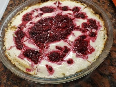Raspberry Cheese Pie Pieces