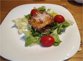 Beef & Eggplant Lasagne presentation