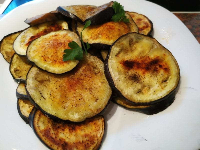 Ready Grilled Eggplant with Soured Cream