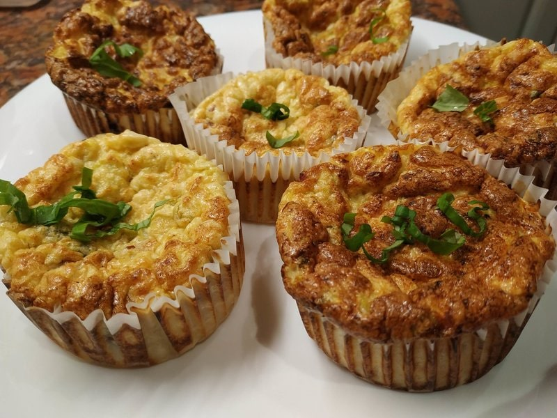 Zucchini & Feta Cheese Muffins