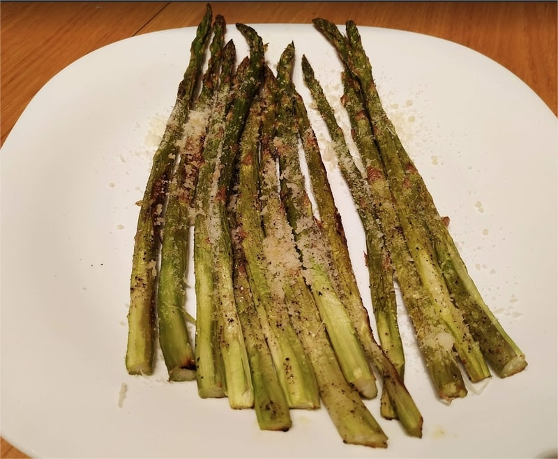 Roasted Asparagus with Grana Padana