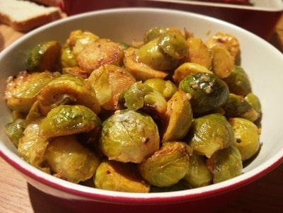 Roasted Parmesan Brussels Sprouts