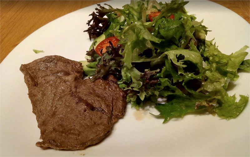 Beef Thin Cuts Steak with Mixed Green Salad